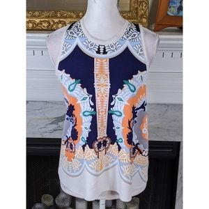 Anthropologie Postmark High Neck Graphic Top XS